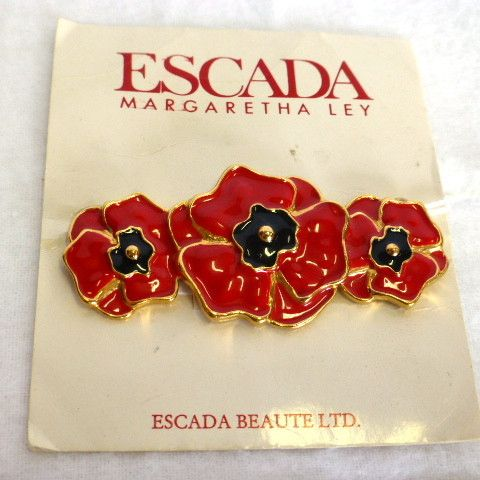 Escada by Margaretha Ley Signature Poppy Brooch www.bettinadarling.com.au