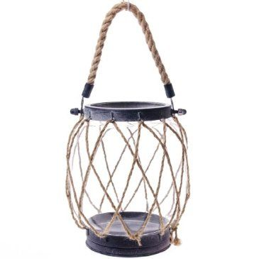 Nautical rope candle lantern large http shop for Large nautical rope