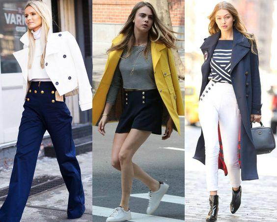 A aposta navy de Gigi Hadid para a temporada - Moda it
