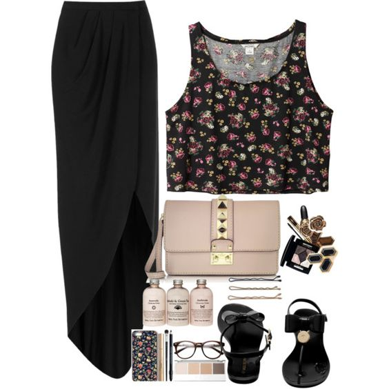 aml by stylisheve on Polyvore featuring Monki, Boutique, Mulberry, Valentino and Guide London