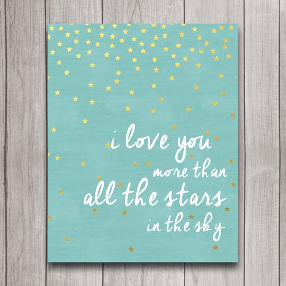 Nursery Wall Art I Love You More than All the por INVITEDbyAudriana