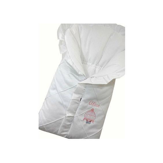 Mamãe Querida: Saco de dormir para bebê bordado borboleta
