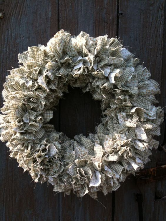 County Fair Gingham and Calico Rag Wreath by andeverygoodthing, $45.00