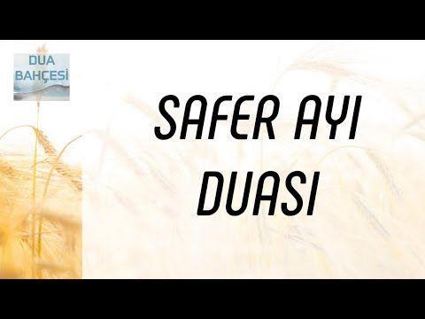Safer Ayi Duasi Allahim Sikintilarimizi Gider Youtube Allah