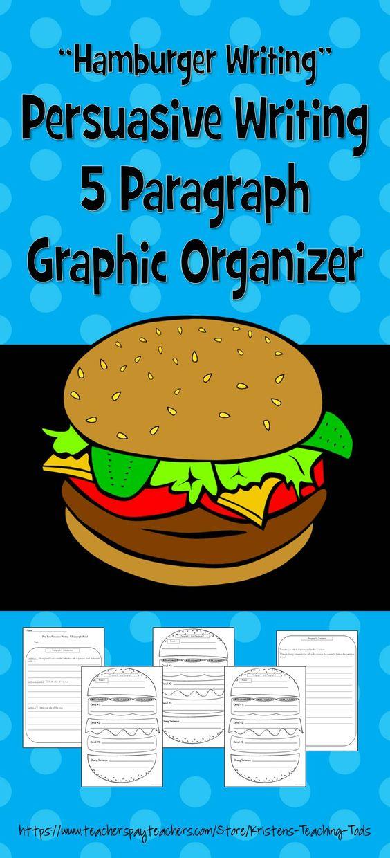 5 paragraph essay hamburger graphic organizer