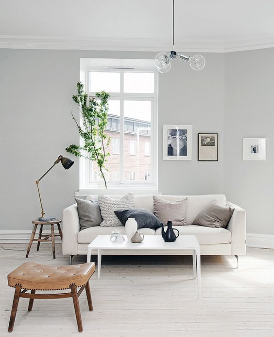 Living Room Wall Colours Pinterest: Light Grey Home With A Mix Of Old And New