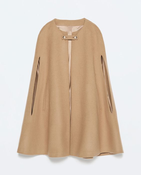 BUTTONED CAPE COAT-Outerwear-Woman-COLLECTION SS15   ZARA United States