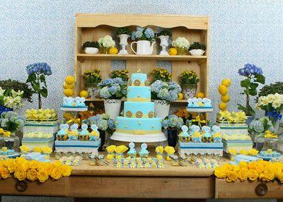 Eu e os Gêmeos: Chá de Bebê: Amarelo e Azul