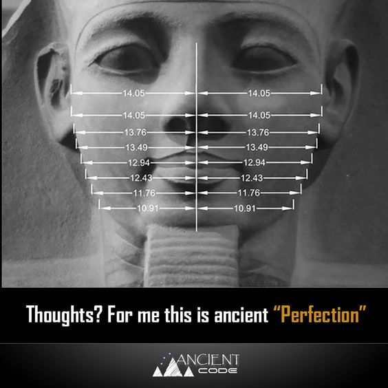 Ancient Egyptian Facial Proportions (how to create the perfect face)