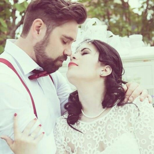 With my husband. #love #wedding #vintagewedding #vicvicious