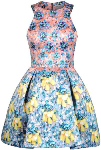 Mary Katrantzou Blue Short Dress