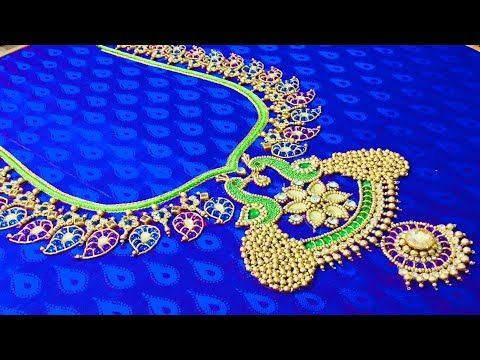 Grand Kundan Embroidery Youtube Blouse Work Designs Embroidery Blouse Designs Blue Blouse Designs,Gorgeous Lehenga Blouse Designs 2020 For Girl