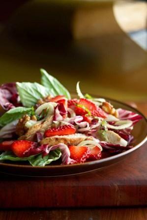 Strawberry Chicken and Fennel Salad