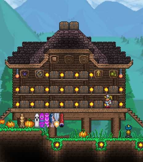 Don T Talk To Me My Son My Pets My Other Son In Disguise My Mount Or My Cannon Ever Again With Images Terraria House Design Terraria House Ideas Minecraft Houses Xbox