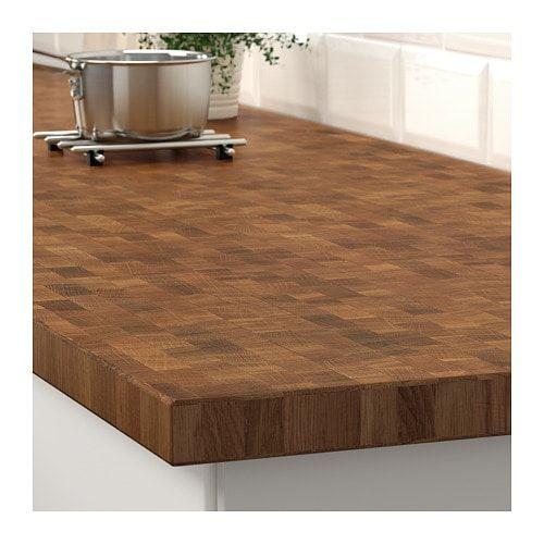 Skogsa Worktop Oak Veneer 246x3 8 Cm Countertops Ikea Traditional Kitchen