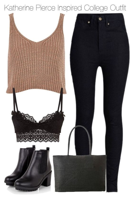 """""""Katherine Pierce Inspired College Outfit"""" by staystronng ❤ liked on Polyvore"""