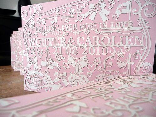 paper cut invitations (via fraeulein-k-sagt-ja)