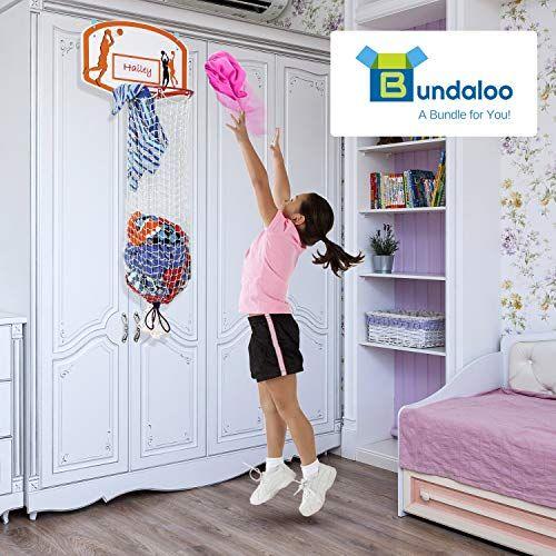 Bundaloo Basketball Laundry Hamper Over The Door 2 In 1 Hanging