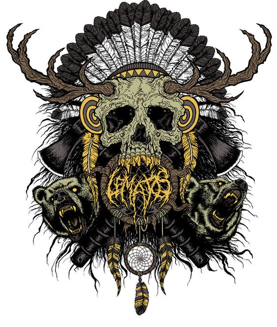 LE MATOS - Indian Skull T-shirt by ~frankRKSS on deviantART