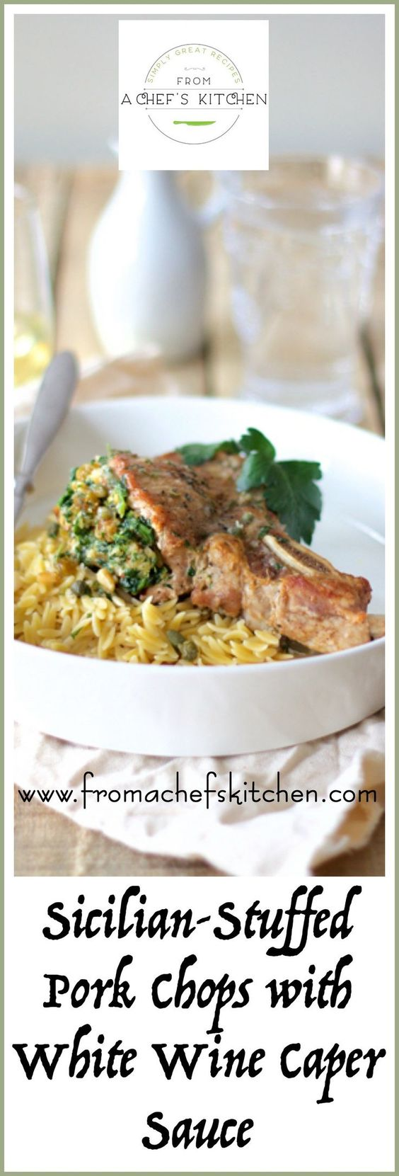 Sicilian Stuffed Pork Chops with White Wine and Caper ...
