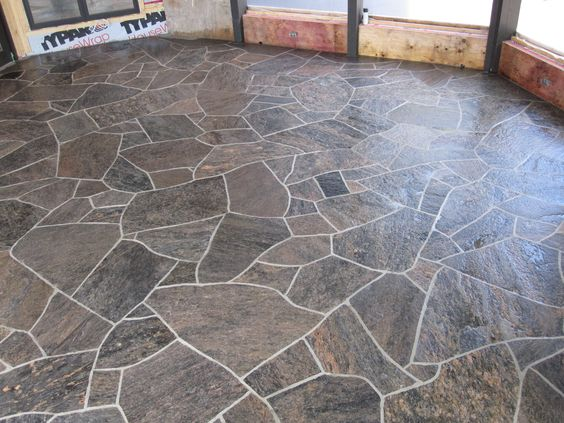 Flagstone Floor Mla Barber Shop Pinterest Floors And