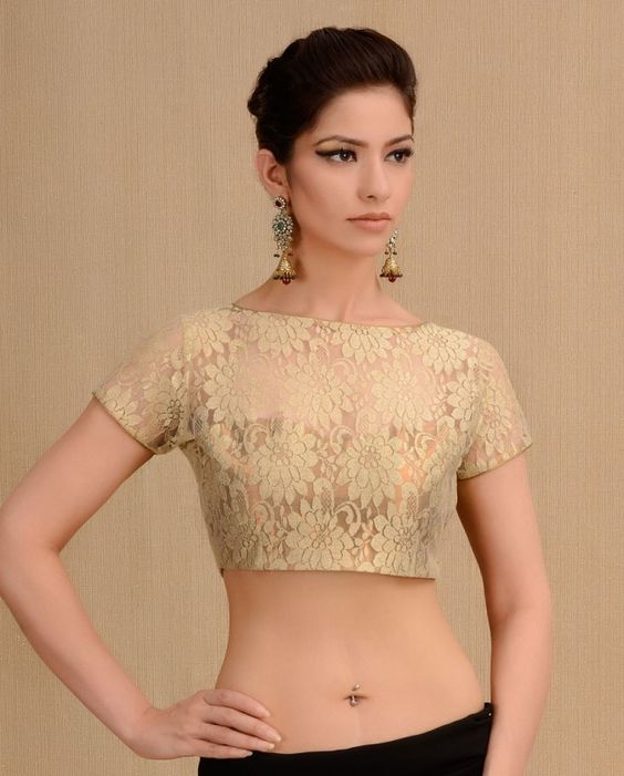 Gold Saree Blouse Online