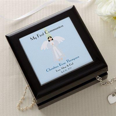 Communion Memories Personalized Keepsake Box (Angel)