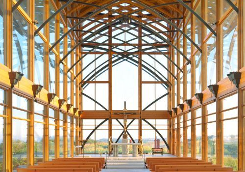 Pulled Over And Visited This Glass Chapel We Spied Off The Highway Near  Omaha, Nebraska. Loved It. So Peaceful. Found Out Architect Has Another Oneu2026
