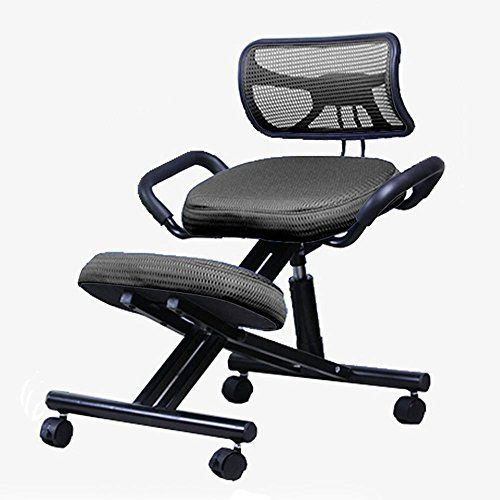 Dididd Brisk Home Backrest Computer Chair Steel Adjustable Writing Chair Meets The Ergonomics Straightening Cha Ergonomic Kneeling Chair Chair Kneeling Chair