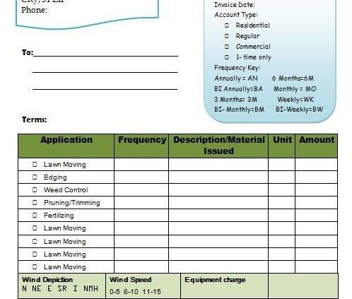 Invoice Template For Lawn 11 Signs You Re In Love With Invoice Template For Lawn Invoice Template Signs Youre In Love Templates
