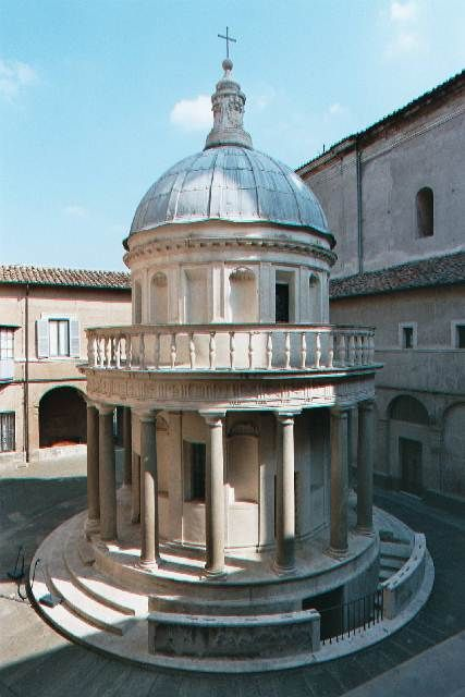 a study on the tempietto by donato bramante Architect donato bramante was one of the most respected artists of the high   bramante turned the plan of a greco-roman doric-style temple (tempietto means .