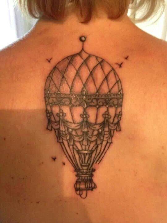 Dandelion Hot Air Balloon Tattoo