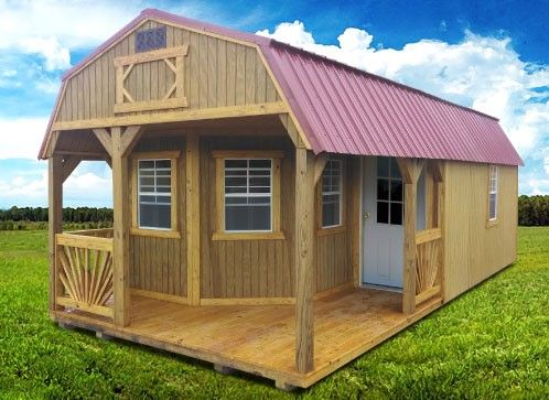 Old hickory buildings and sheds deluxe playhouse package for Barn packages for sale