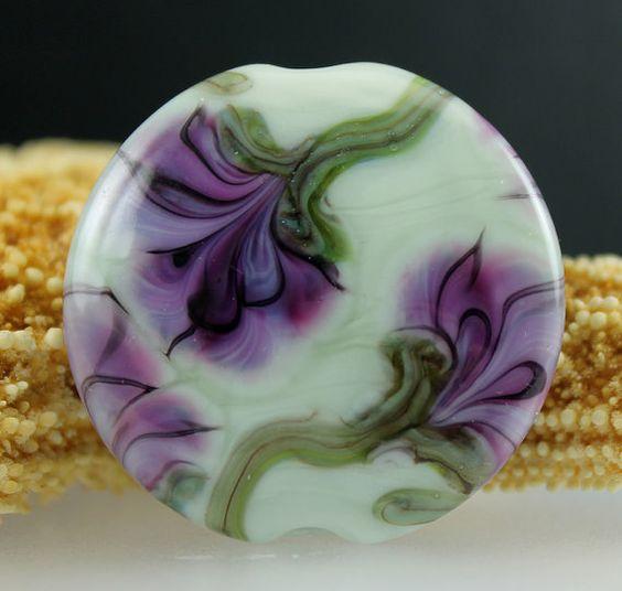 Gemsinbloom wispy purple violet green floral flower by gemsinbloom, $20.00