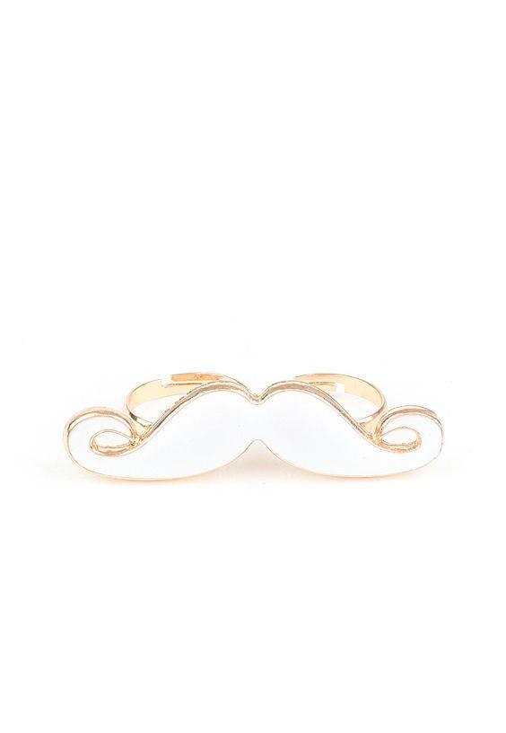 Odessa Two Finger Moustache Ring