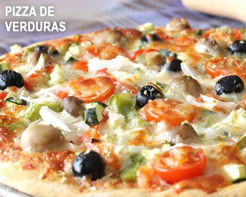 Pizza De Verduras Fácil Comida Italiana Comida Receta Tortitas