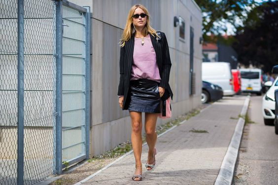 Pernille Teisbaek, in Gucci sunglasses and Ganni sweater: