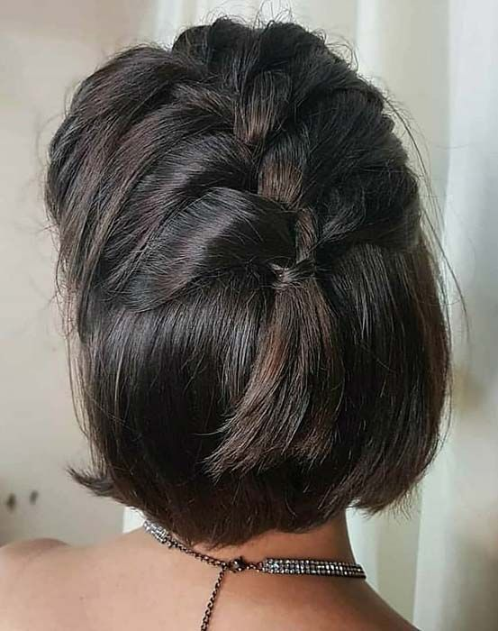 23 Quick And Easy Braids For Short Hair Page 2 Of 2 Stayglam Braids For Short Hair Quick Braids Hair Styles