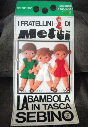 Pic-Puc-amp-PAC-fratelli-di-Sebino-bambole-borse-di-Sebino-italy-originalbox