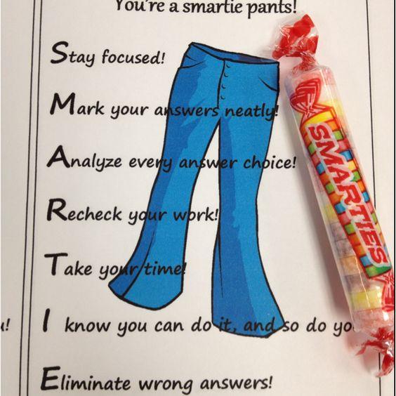 Testing encouragement Smartie style. (Note: older kids ... Smarties Test