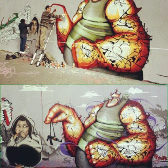 #Graffiti #Art #Pearl #Painting #Girl #Rensone #Univerbal #ESS Enfants Soldats Stop #Mural