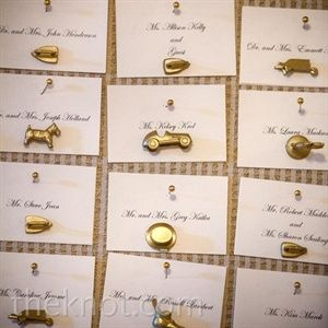 Monopoly Token Escort Cards