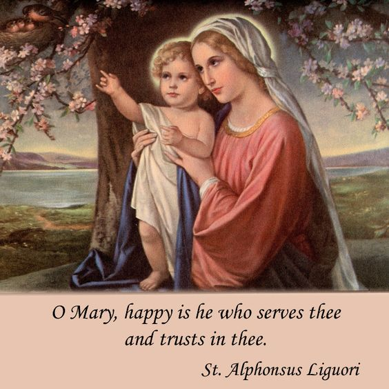 O Mary, happy is he who serves thee and trusts in thee. #DaughtersofMaryPress…