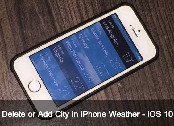 Quite easy to remove and add more cities or location just follow my guide to delete or Add City in iPhone weather App running iOS 10, iOS 9…