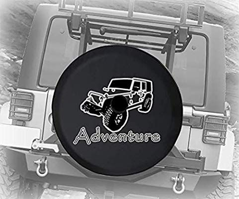 Jl Series Spare Tire Cover Backup Camera Hole Adventure Travel Mountains Trees Outdoors Black With Images Jeep Wrangler Accessories Wrangler Accessories Spare Tire Covers