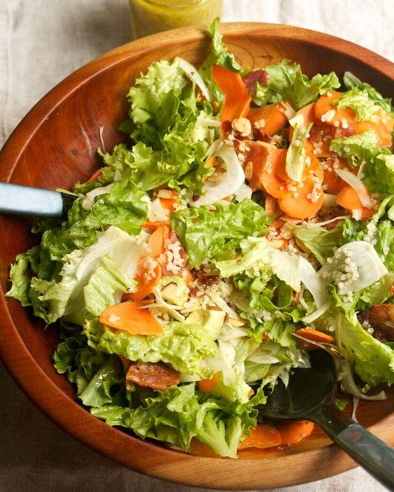 Quinoa, Avocado & Apple Salad with Crispy Bacon & Honey-Dijon Vinaigrette