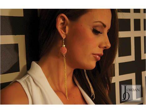 Chelsea chain drop earrings  Love the rose earring