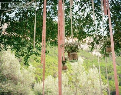 Detalle de la decoración de la boda de Aina y Mateu a cargo de Imatge&Events