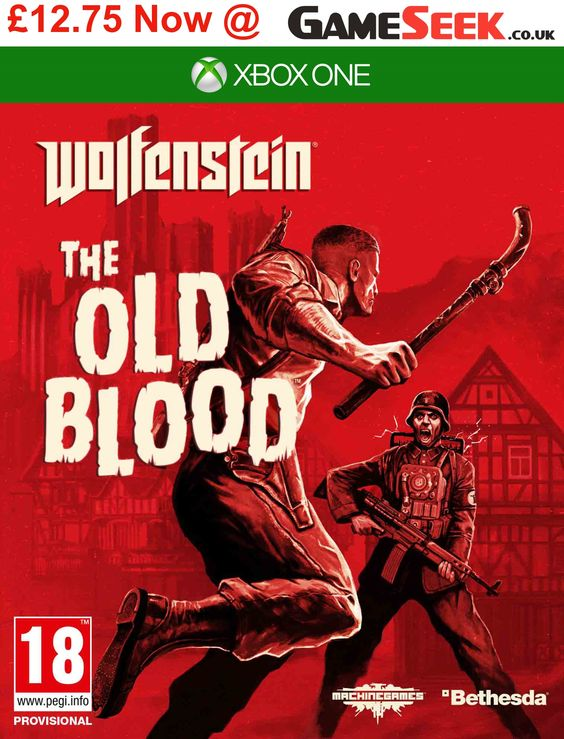 Pick up #Wolfenstein The Old Blood on #Xbox and #PS4 for just £12.75! What a #gaming bargain!