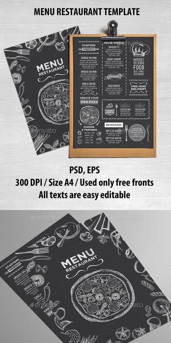 Food Restaurant Menu Template PSD #design Download: http://graphicriver.net/item/food-restaurant-template/14327292?ref=ksioks